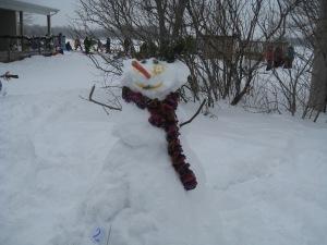 Les concours de bonhommes hommes de neige a lui aussi remporté un vif succès.